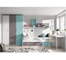 Детская комната - Штурман, цвет - серый, стиль - современный